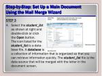 step by step set up a main document using the mail merge wizard8