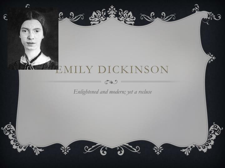analysis of emily dickinson 1