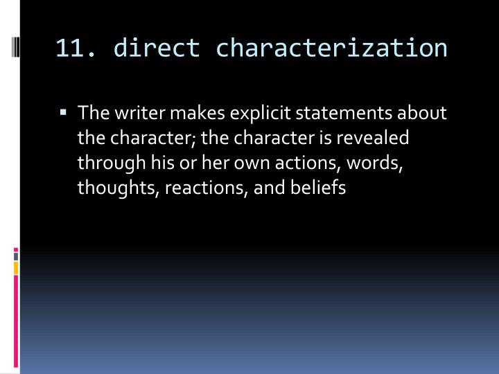 11. direct characterization