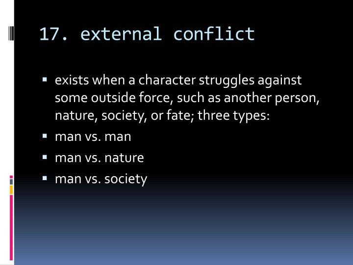 17. external conflict