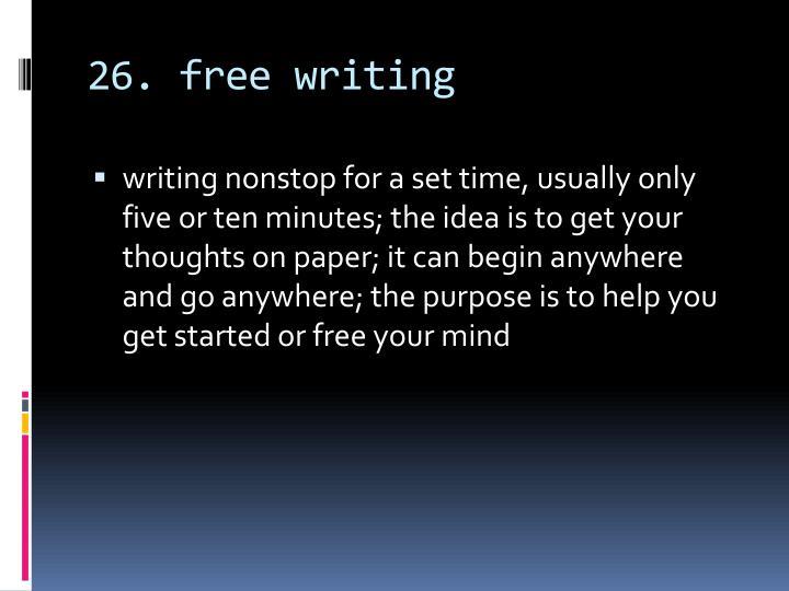 26. free writing