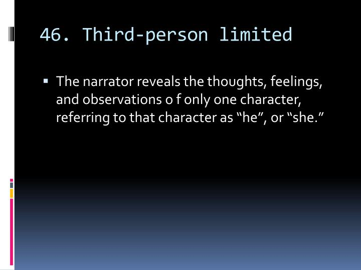 46. Third-person limited