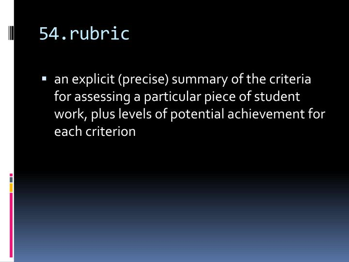 54.rubric