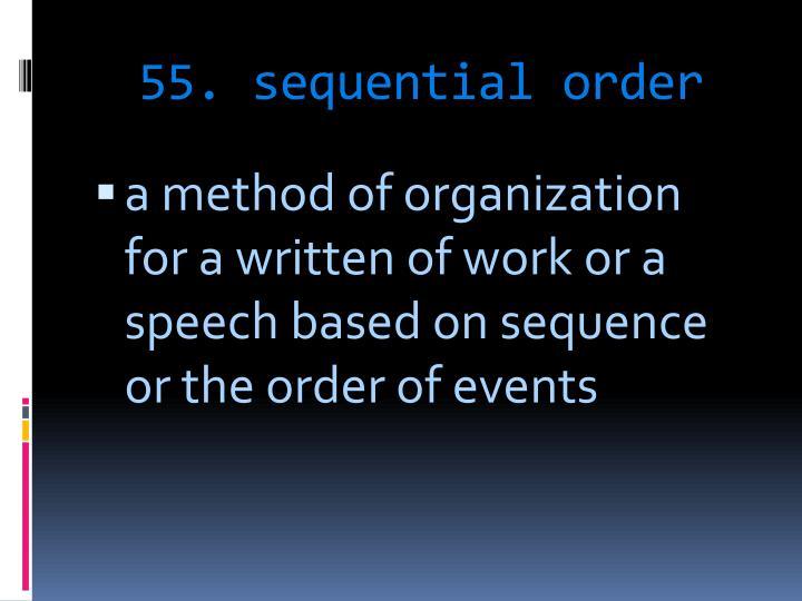 55. sequential