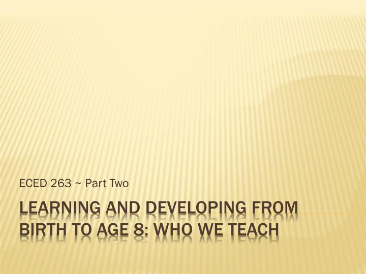eced 263 part two n.