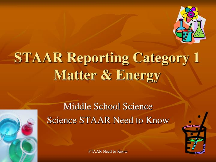 Staar reporting category 1 matter energy