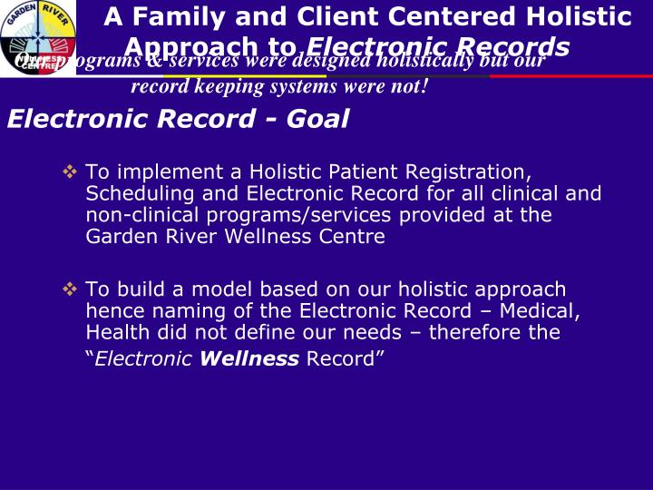 Our programs & services were designed holistically but our