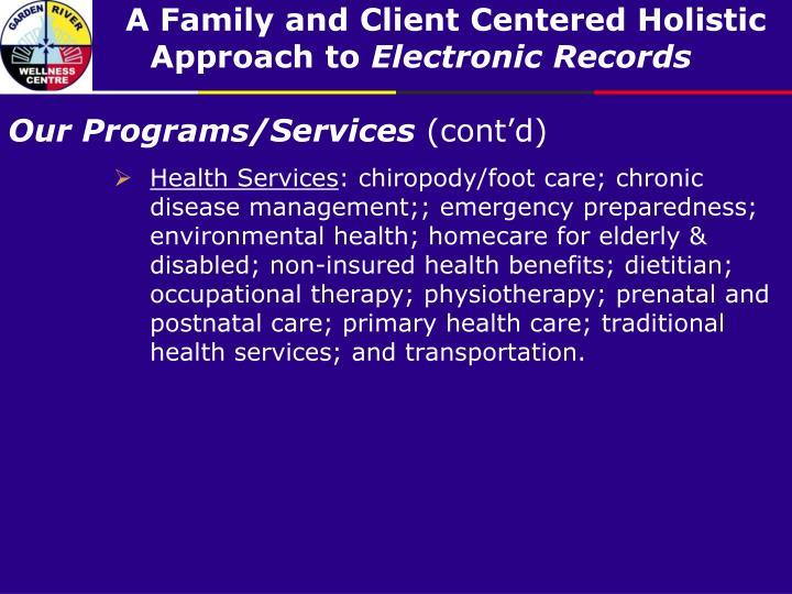 Our Programs/Services