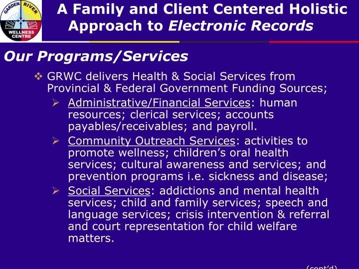 Our programs services