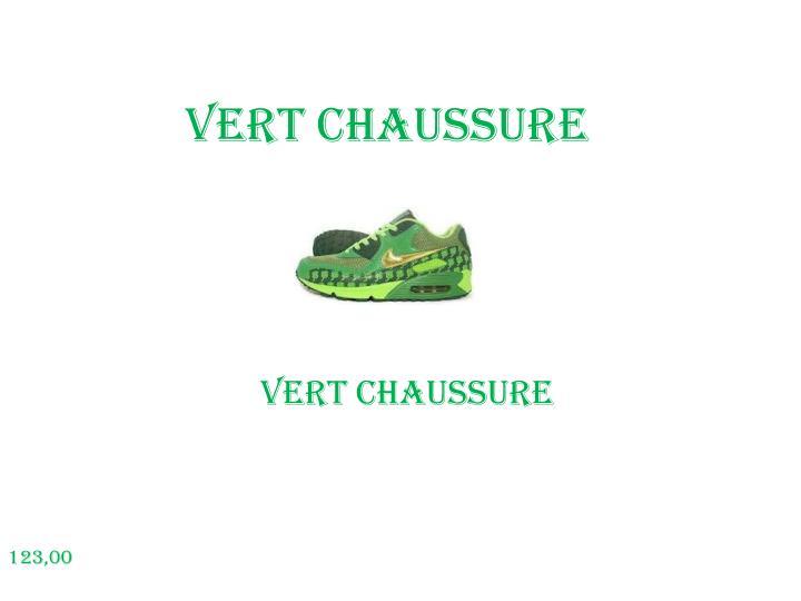 Vert chaussure