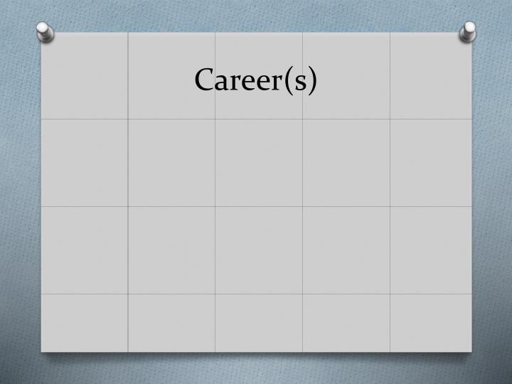 Career(s)