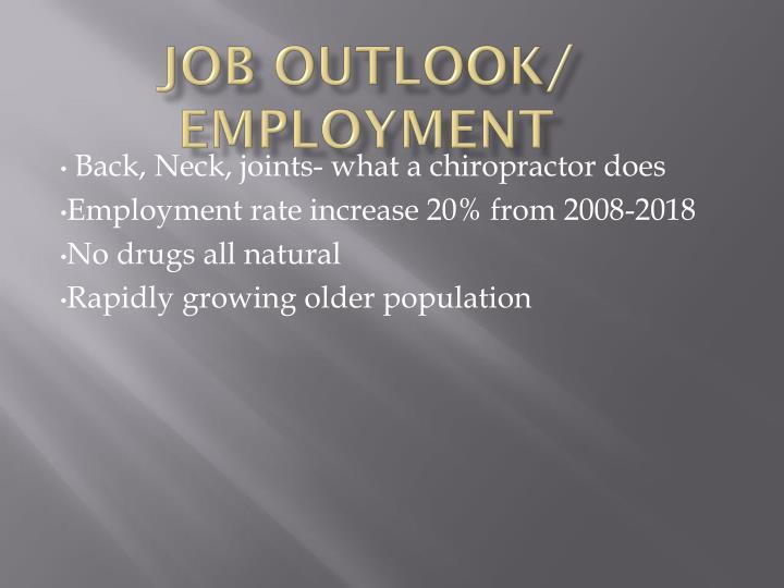Job Outlook/ Employment