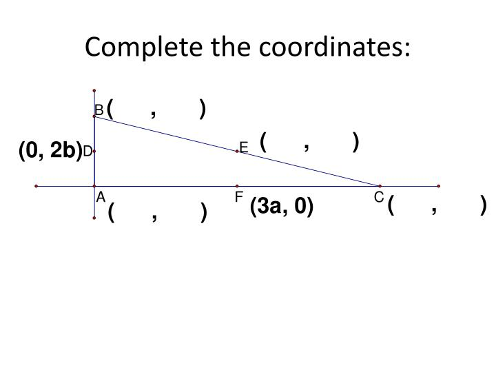 Complete the coordinates:
