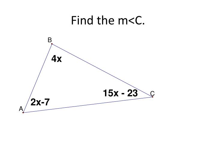 Find the m<C.