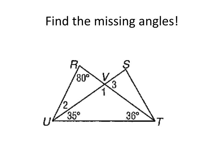 Find the missing angles!