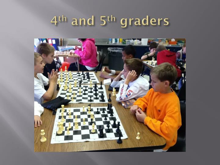 4 th and 5 th graders