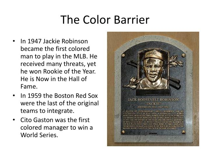 The Color Barrier