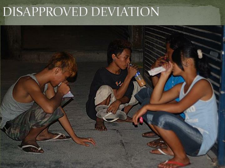 DISAPPROVED DEVIATION