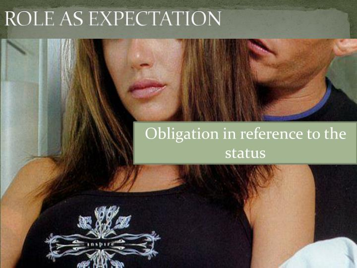 ROLE AS EXPECTATION