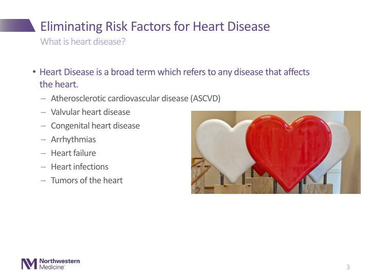 Eliminating risk factors for heart disease2