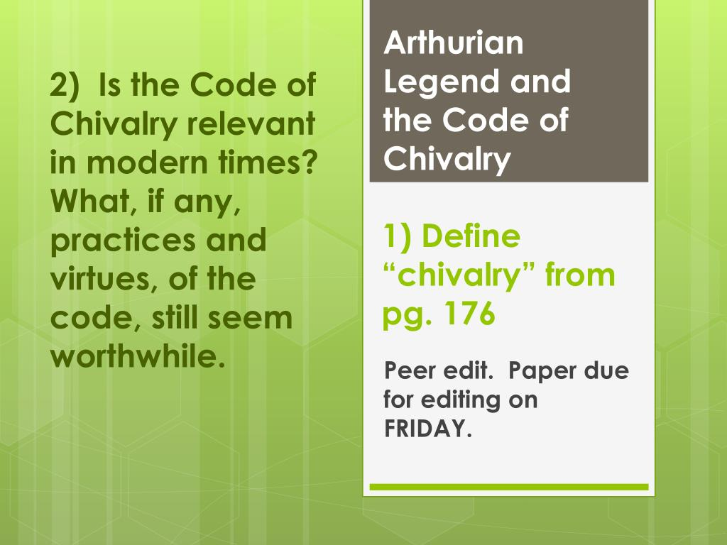 modern code of chivalry