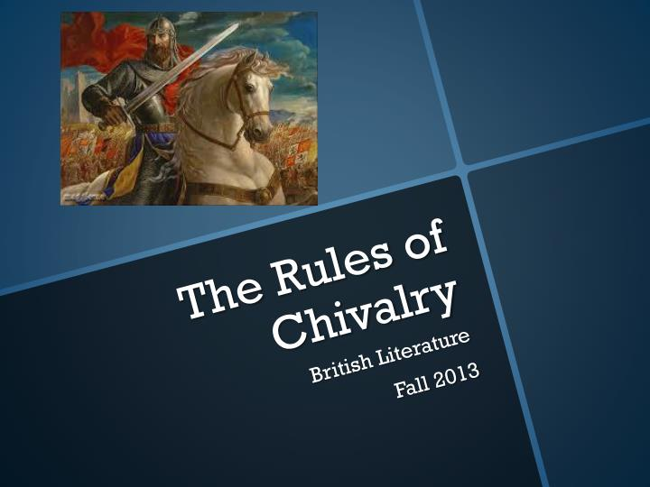 the rules of chivalry n.