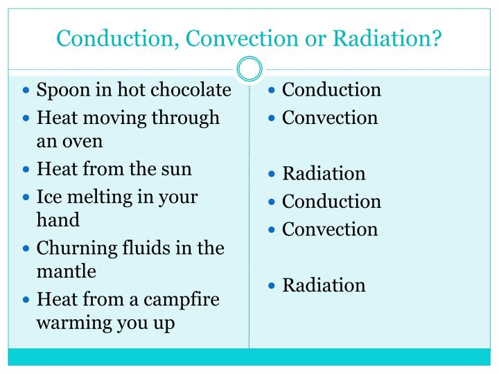 PPT - Conduction, Convection or Radiation? PowerPoint