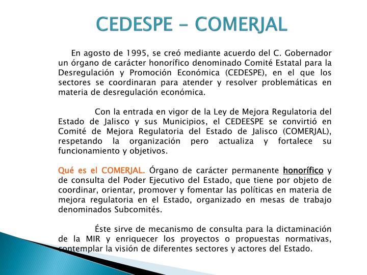 CEDESPE - COMERJAL