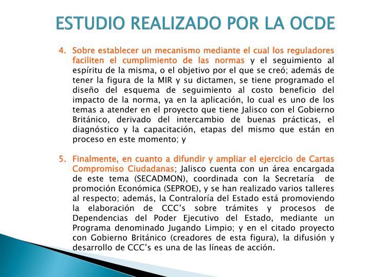 ESTUDIO REALIZADO POR LA OCDE