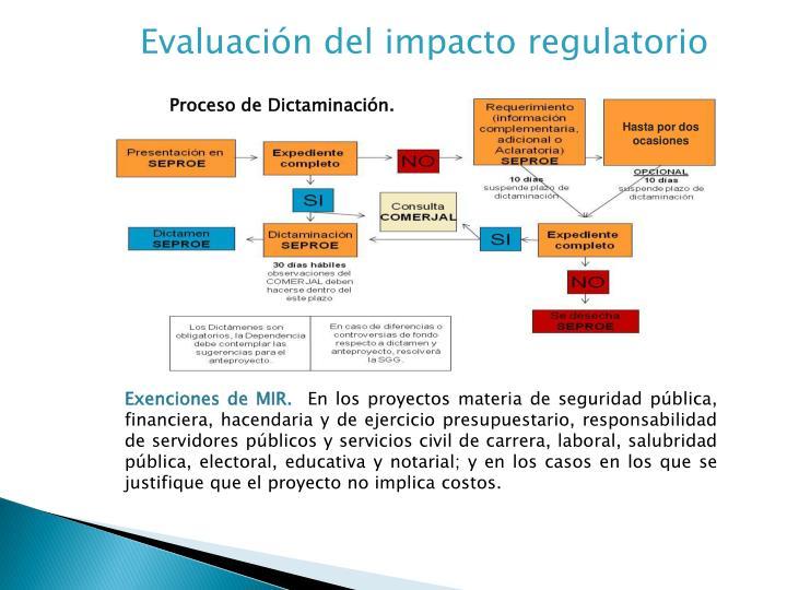 Evaluación del impacto regulatorio