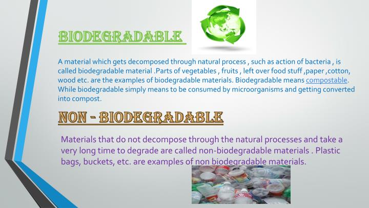 examples of non biodegradable materials