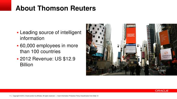 About Thomson Reuters