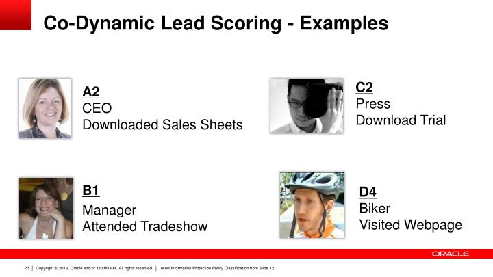 Co-Dynamic Lead Scoring - Examples