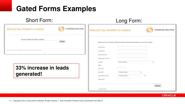 Gated Forms Examples
