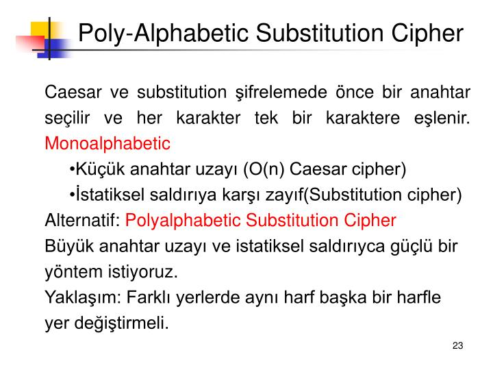 Poly-Alphabetic Substitution Cipher