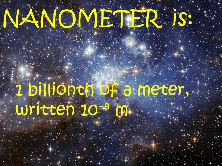 NANOMETER  is: