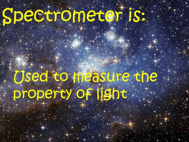 Spectrometer is: