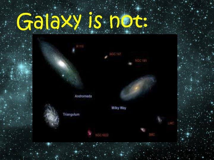 Galaxy is not: