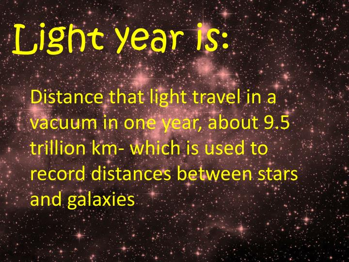 Light year is: