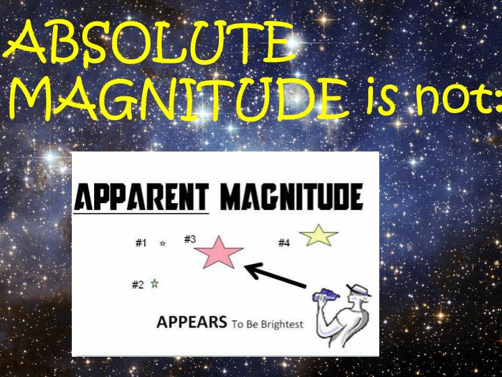 ABSOLUTE                        MAGNITUDE is not: