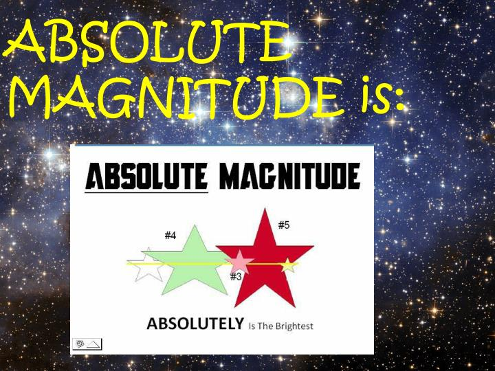 ABSOLUTE                        MAGNITUDE is: