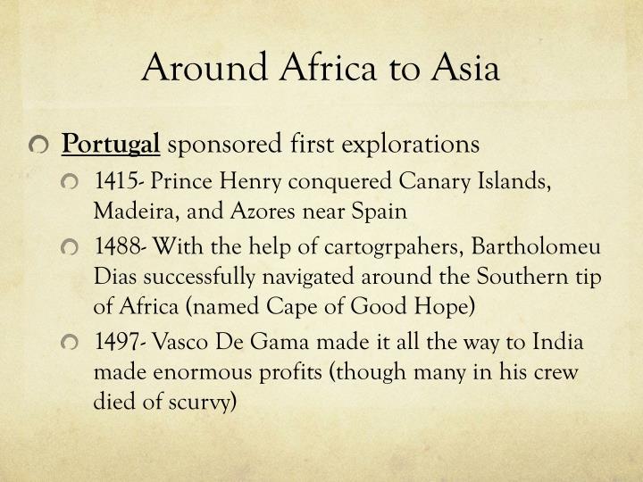 Around Africa to Asia