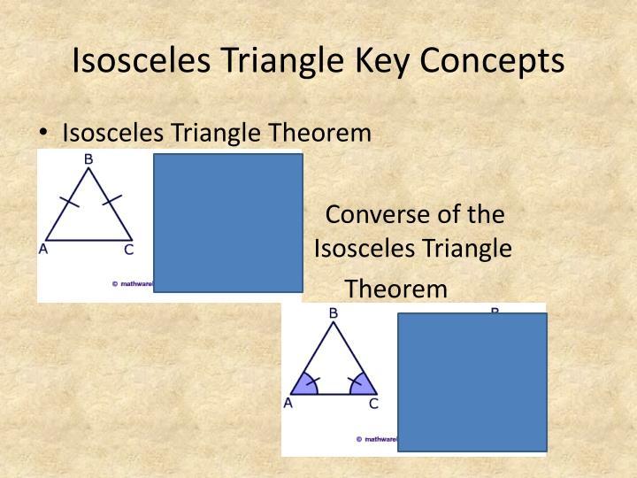 Isosceles Triangle Key Concepts