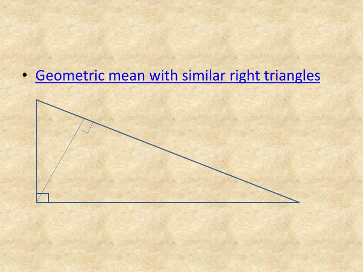 Geometric mean with similar right triangles