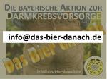 die bayerische aktion zur darmkrebsvorsorge1