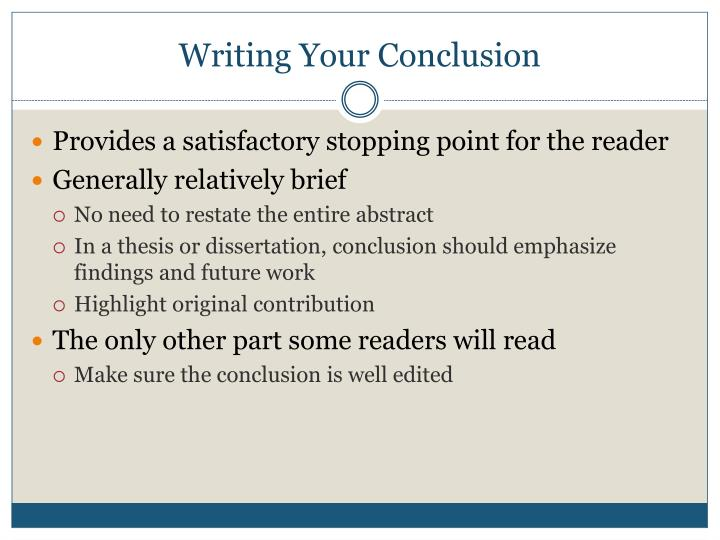 Writing Your Conclusion