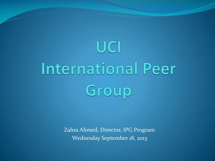 ppt - uci international peer group powerpoint presentation - id:2829914, Uci Presentation Template, Presentation templates