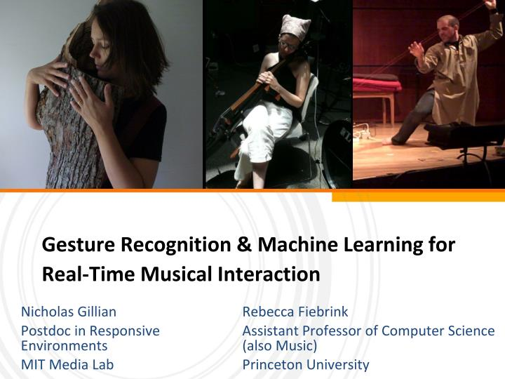 Gesture recognition machine learning for real time musical interaction