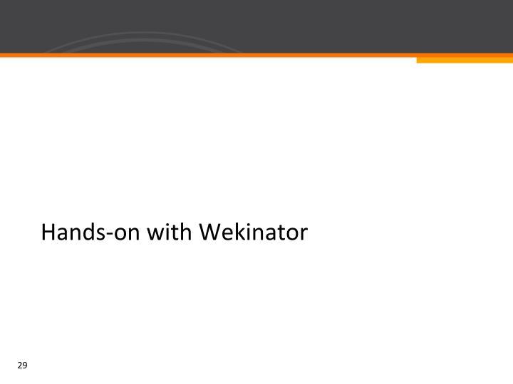 Hands-on with Wekinator