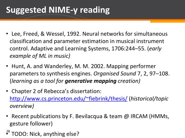 Suggested NIME-